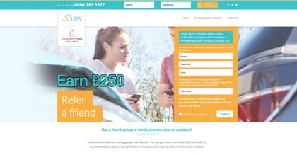 Solicitor promotion landing page site