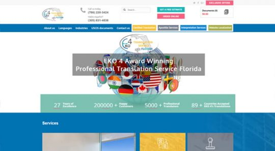 Translations Company Website